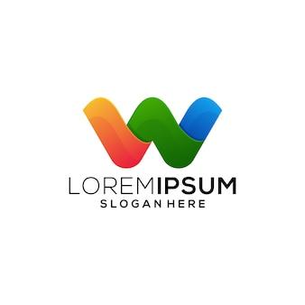 Negócio de logotipo letra w