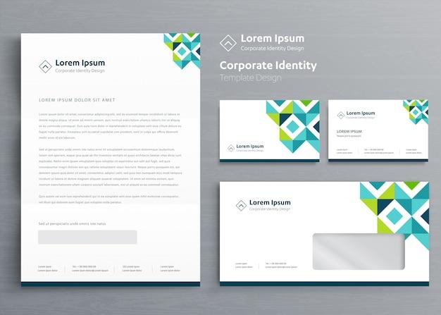 Negócio de papelaria clássico identidade corporativa