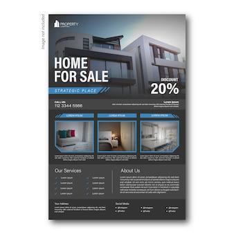 Negócio de propriedade moderna de panfleto ou brochura de modelo