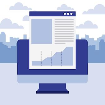 Negócio de relatório de documento de computador