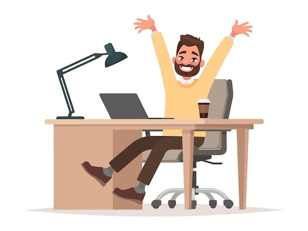Negócio de sucesso ou ilustração de boas notícias