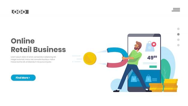Negócio de varejo on-line