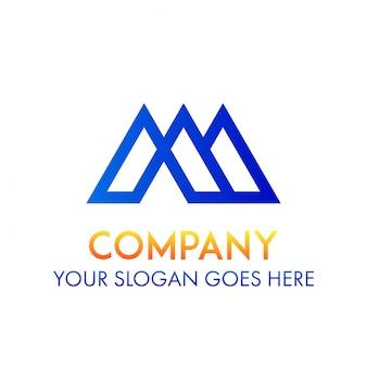 Negócio do logotipo m