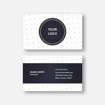 Negócio editável abstrato ou cartão de visita na apresentação frontal e traseira.