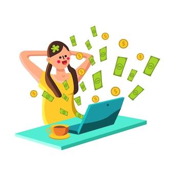 Negócio financeiro on-line de renda passiva