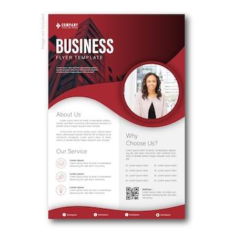 Negócio moderno de panfleto vermelho