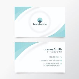 Negócio neumorfo ou cartão de visita na cor branca e azul.
