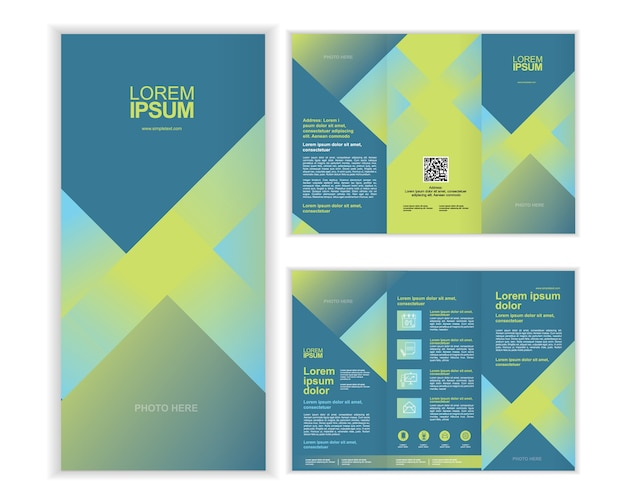 Negócio profissional três vezes brochura modelo c