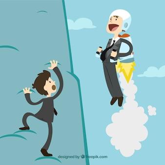 Negócio se move mais rápido com um foguete