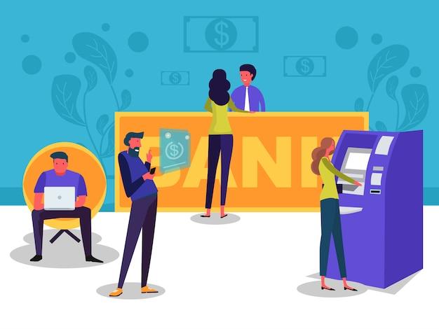 Negócios bancários on-line