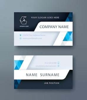 Negócios corporativos, modelo de design de cartão de nome pessoal.
