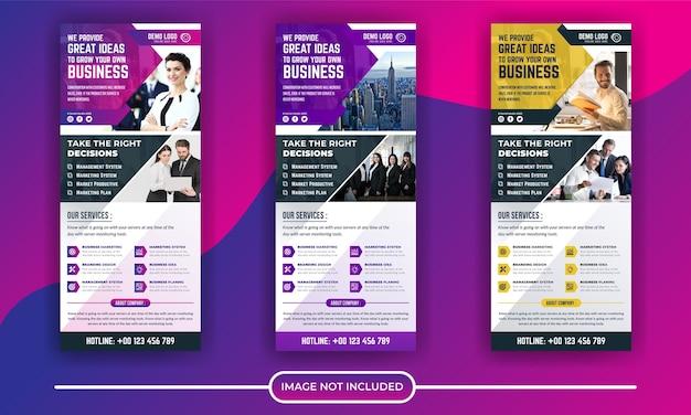 Negócios corporativos roll up ou modelo de banner de suporte