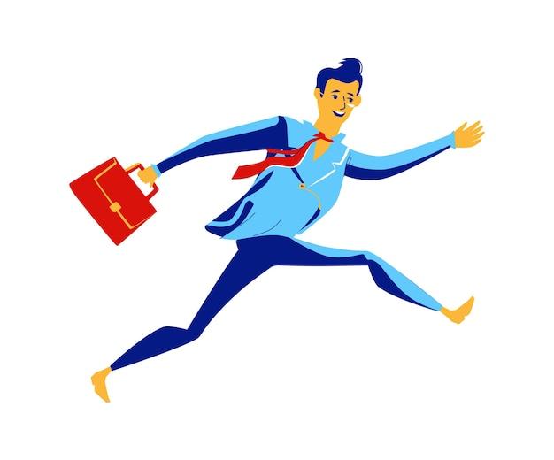 Negócios - correndo superando obstáculos