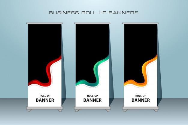 Negócios criativos rollup xbanner permanente design