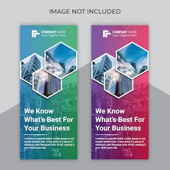 Negócios de cor gradiente arregaçar o design do banner
