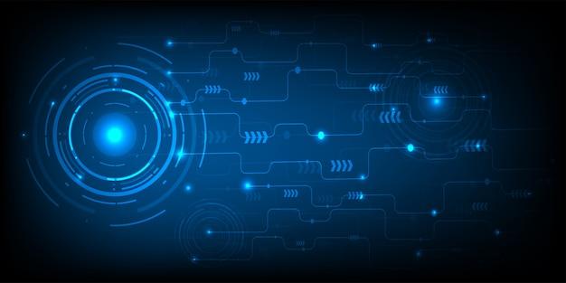 Negócios de tecnologia e círculo digital de tecnologia