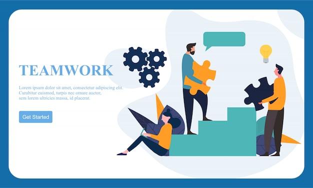 Negócios dessign plana mãos trabalho em equipe.