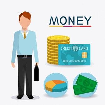 Negócios, dinheiro e recursos humanos