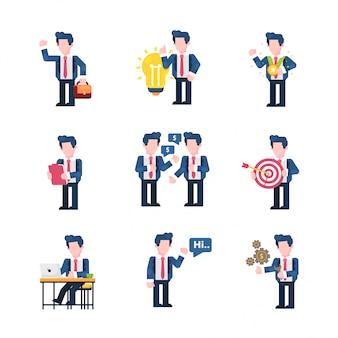 Negócios e finanças estilo de design plano de ilustração, ir para o trabalho, idéia, prêmio, análise, acordo, alvo, trabalho, oi, configuração de dinheiro