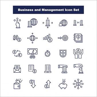 Negócios e gestão icon set vector