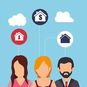 Negócios e lucros imobiliários
