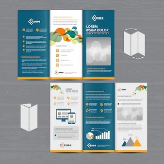 Negócios em brochura tri fold