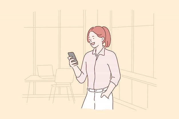 Negócios, empreendedorismo, selfie