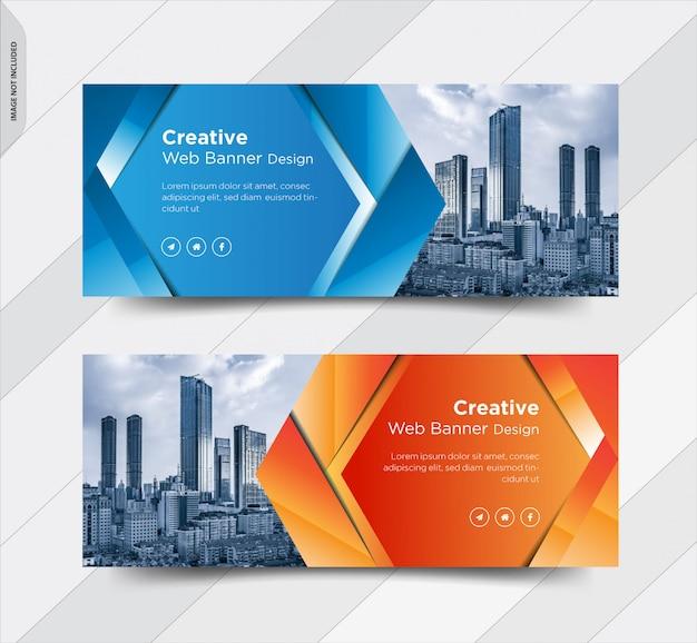 Negócios facebook capa mídia social banner post design