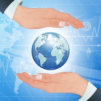 Negócios globais e meio ambiente protegem
