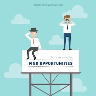 Negócios ilustração motivacional