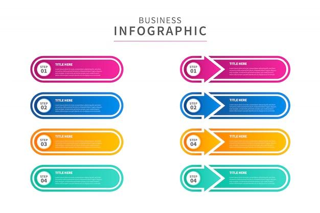 Negócios infografhic, colorido e simples.