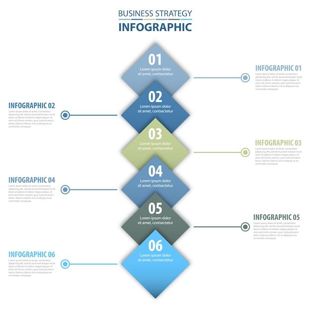 Negócios infográficos design modelo azul cinza cor tom