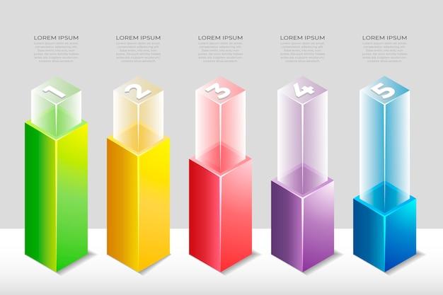 Negócios isométrico infográfico
