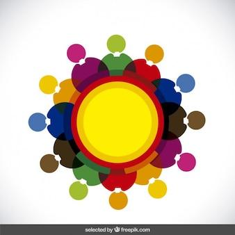 Negócios logotipo colorido