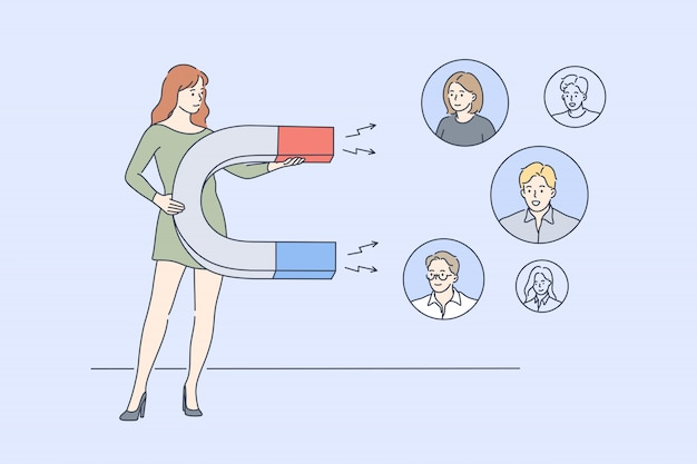 Negócios, marketing digital, promoção, publicidade, conceito de mídia social