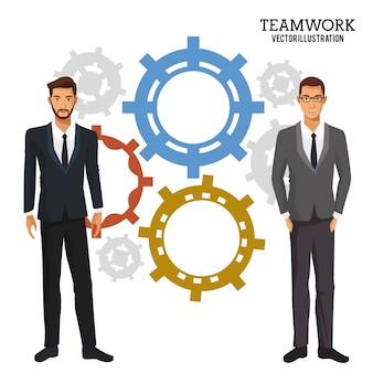 Negócios masculinos trabalho em equipe negócios corporativos