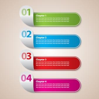 Negócios modernos de listras com diagrama de escada colorido e ilustração vetorial de figuras