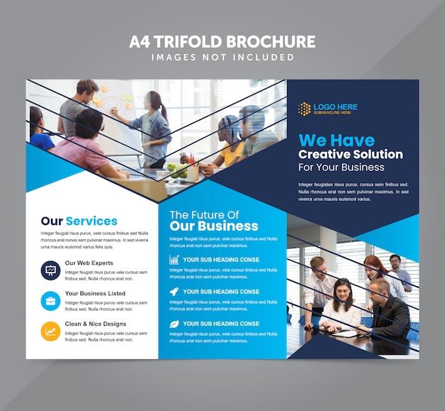 Negócios multipropósito a4 modelo de vetor de brochura com três dobras
