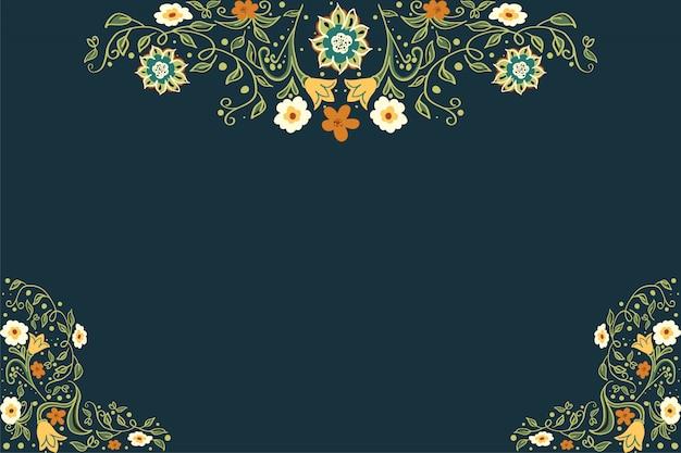 Negócios ou outro evento pintado fundo floral