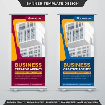 Negócios roll up banner estilo premium