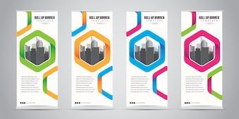 Negócios Roll Up Banner Standee Design
