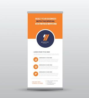 Negócios roll up permanente banner & poster design