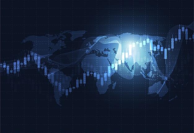 Negócios vela pau gráfico gráfico do mercado de ações