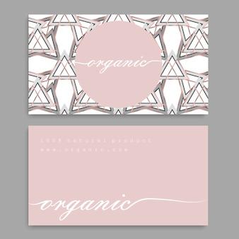 Negócios vintage e cartão de visita com padrão floral