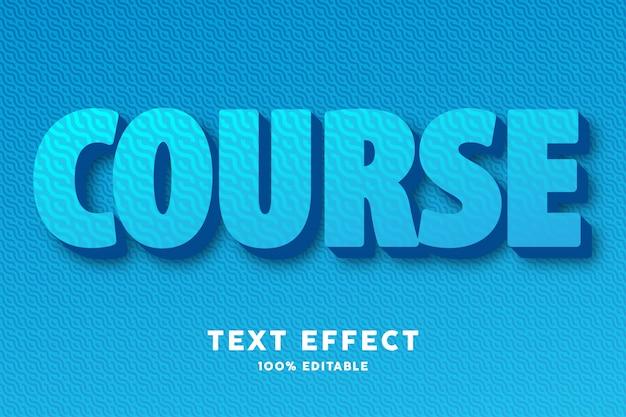 Negrito azul com efeito de estilo de texto de padrão de onda