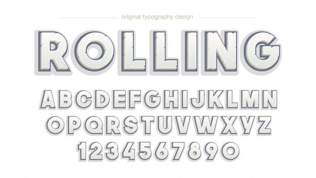 Negrito design de tipografia de rock chanfrado