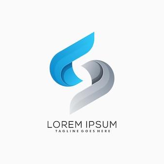 Negrito letra s colorido logotipo vector