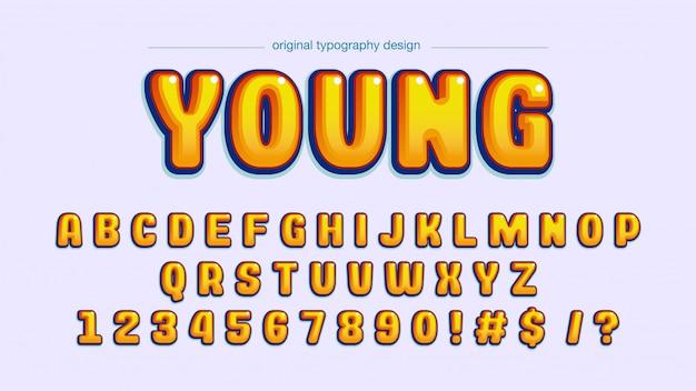 Negrito tipografia de quadrinhos amarelos