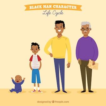 Negros em diferentes idades