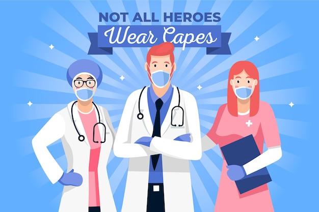 Nem todos os heróis usam o conceito de capas ilustrado
